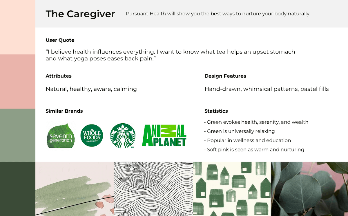 Branding representing the caregiver